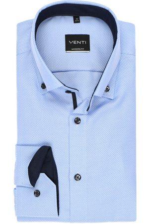 Venti Modern Fit Overhemd lichtblauw/ , Effen