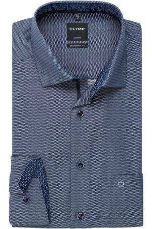 Olymp Luxor Modern Fit Overhemd marine, Gestructureerd