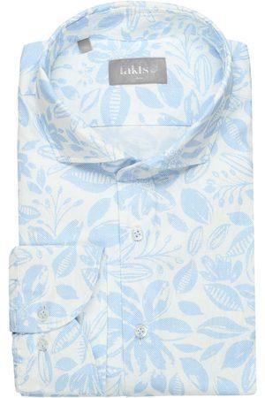 fakts Slim Fit Overhemd lichtblauw/ , Bloemen
