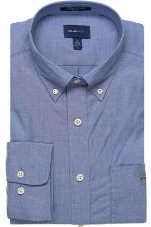 GANT Regular Fit Overhemd middenblauw, Effen