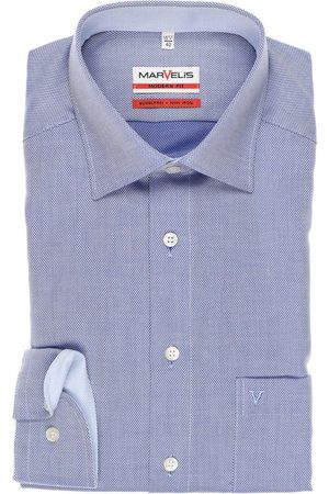 Marvelis Modern Fit Overhemd lichtblauw, Gestructureerd