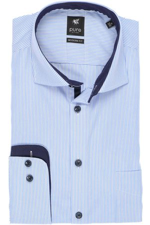 Pure Modern Fit Overhemd / , Gestreept