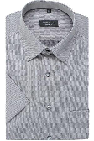 ETERNA Comfort Fit Overhemd Korte mouw zilvergrijs, Gestructureerd