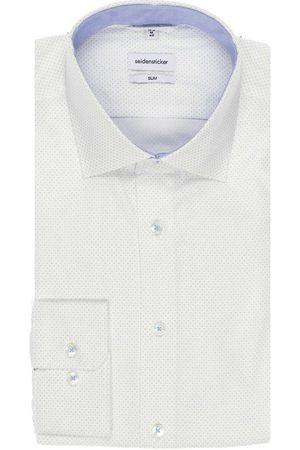 Seidensticker Slim Fit Overhemd lichtblauw, Motief