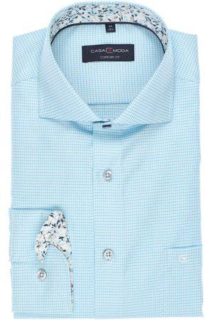 Casa Moda Comfort Fit Overhemd turkoois/ , Ruit