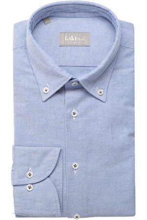 fakts Leisure Slim Fit Overhemd lichtblauw, Effen
