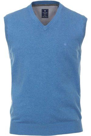 Redmond Casual Regular Fit Slipover ijsblauw, Effen