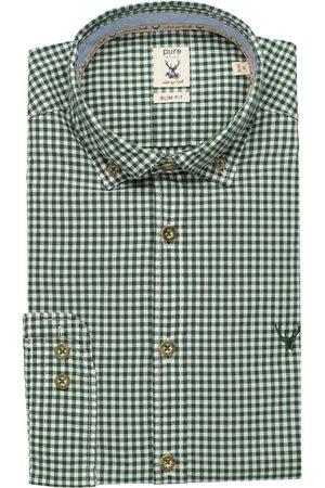 Pure Slim Fit Traditioneel overhemd , Ruit