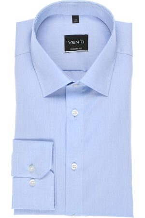 Venti Modern Fit Overhemd lichtblauw, Effen