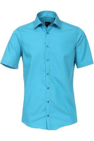 Venti Modern Fit Overhemd Korte mouw turquoise, Effen