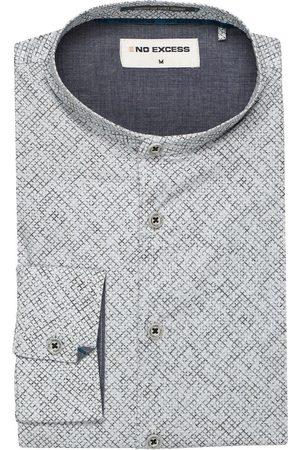 No Excess Modern Fit Overhemd nachtblauw, Motief