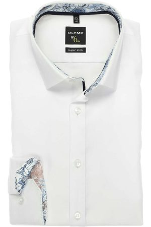 Olymp Heren Lange mouwen - No. Six Super Slim Overhemd , Faux-uni