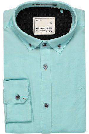 No Excess Modern Fit Overhemd lichtgroen, Effen
