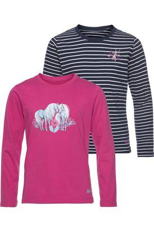 Scout Meisjes Lange mouw - Shirt met lange mouwen Horse gemaakt van biologisch katoen (set, Set van 2)