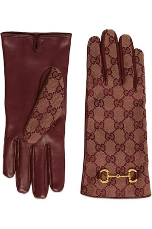 Gucci GG canvas gloves with Horsebit