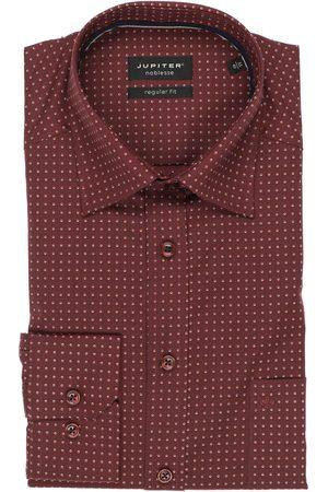 Jupiter Regular Fit Overhemd wijnrood/ , Motief