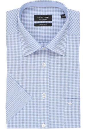 Jupiter Regular Fit Overhemd Korte mouw lichtblauw/ , Ruit