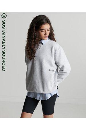 Superdry Dames Shirts - Recycled Micro Mid sweatshirt met ronde hals