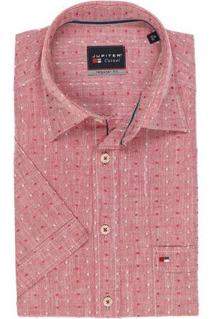 Jupiter Heren Korte mouwen - Casual Regular Fit Overhemd Korte mouw , Effen