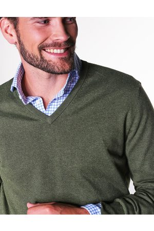 Steppin' Out Heren Pullovers - Heren Cotton Cashmere Vneck