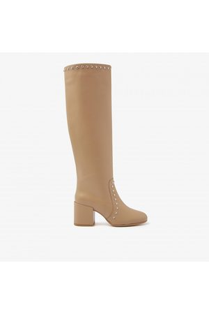 Nubikk Dames Hoge laarzen - Gigi Jolien | Cappuccino boots