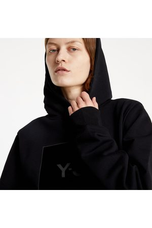 Y-3 Dames Sweaters - Square Label Graphic Hoodie Black