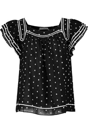ULLA JOHNSON Dames Blouses - Alice polka-dot cotton blouse