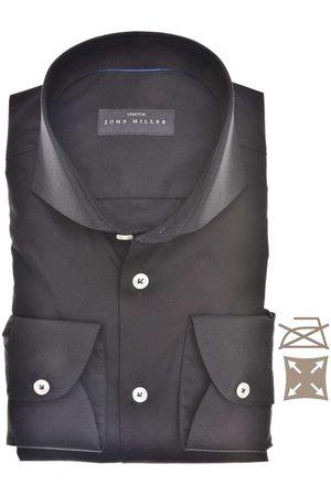 john miller Heren Lange mouwen - Tailored Fit Overhemd , Effen