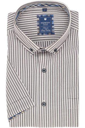 Redmond Heren Korte mouwen - Casual Regular Fit Overhemd Korte mouw / , Gestreept