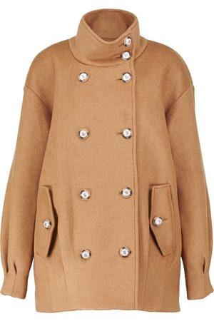VERONICA BEARD Cassie pleated wool-blend jacket