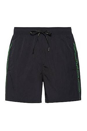 HUGO BOSS Quick-drying swim shorts with vertical cropped logo