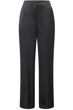 HUGO BOSS Relaxed-fit wide-leg trousers in satin