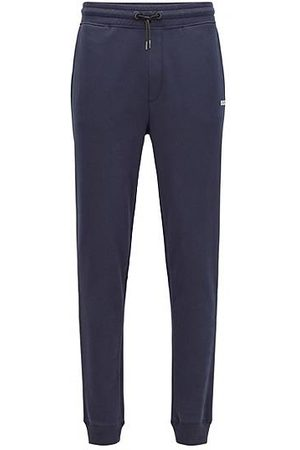 HUGO BOSS Cotton-blend tracksuit bottoms with logo detail