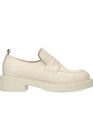 Sacha Dames Loafers - Latte leren loafers