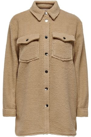 ONLY Dames Blouses - Teddy Overhemd Dames Beige