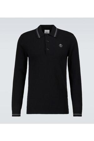 Burberry Long-sleeved cashmere polo shirt