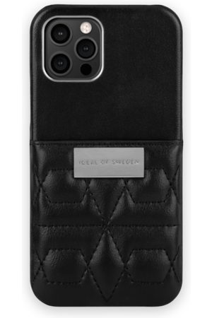 IDEAL OF SWEDEN Telefoon - Statement Case iPhone 12 Pro Quilted Black - Mini Pocket