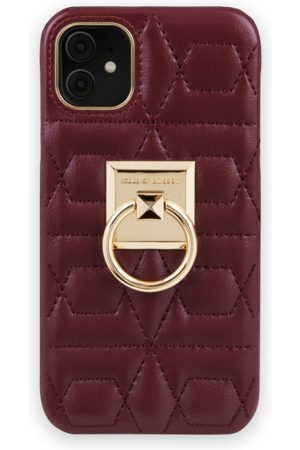 IDEAL OF SWEDEN Telefoon - Statement Case iPhone 11 Quilted Ruby