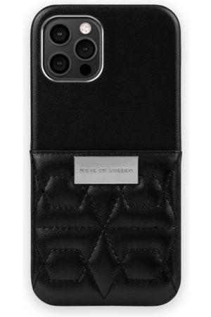 IDEAL OF SWEDEN Telefoon - Statement Case iPhone 12 Pro Max Quilted Black - Mini Pocket