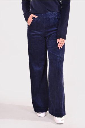 Sea Me Happy Dames Wijde broeken - Broek Woody Wide Rib donkerblauw