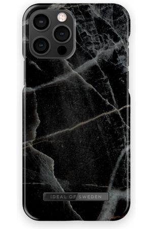 IDEAL OF SWEDEN Telefoon - Fashion Case iPhone 12 Pro Black Thunder Marble