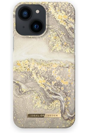 IDEAL OF SWEDEN Dames Telefoon - Fashion Case iPhone 13 Mini Sparkle Greige Marble