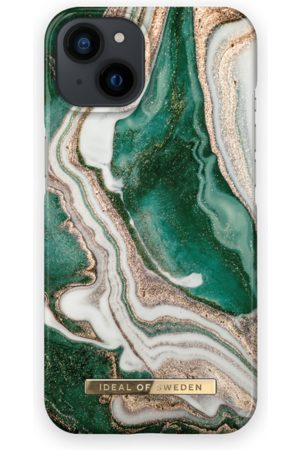 IDEAL OF SWEDEN Telefoon - Fashion Case iPhone 13 Golden Jade Marble