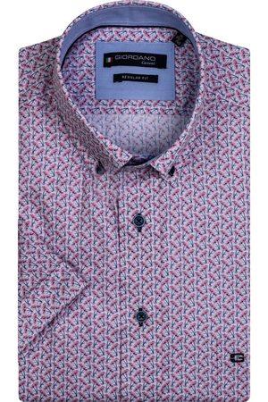 Giordano Heren Korte mouwen - Regular Fit Overhemd Korte mouw , Motief