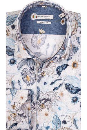 Giordano Heren Lange mouwen - Maggiore Modern Fit Overhemd , Motief