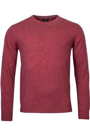 Baileys Heren Lange mouw - Regular Fit Sweatshirt ronde halsrood, Effen