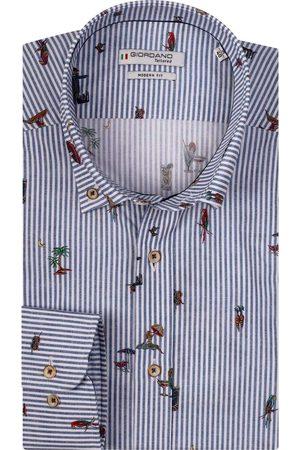 Giordano Heren Lange mouwen - Torrino Modern Fit Overhemd , Motief