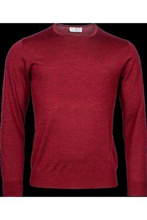 Thomas Maine Heren Lange mouw - Regular Fit Sweatshirt ronde halsrood, Effen
