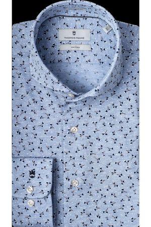 Thomas Maine Heren Lange mouwen - Bari Tailored Fit Overhemd , Effen