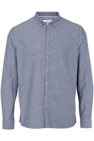 Kronstadt Slim Fit Overhemd donkerblauw, Effen
